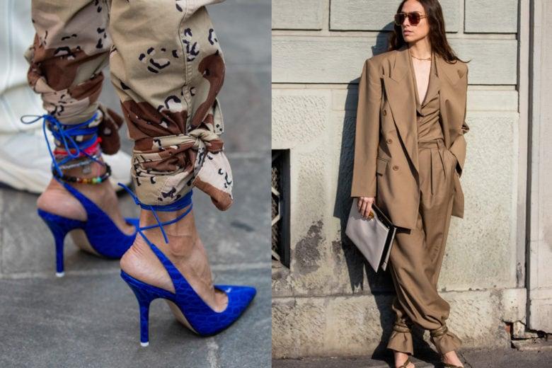 Fashion alert: come indossare le scarpe legate alla caviglia su pantaloni ampi e morbidi