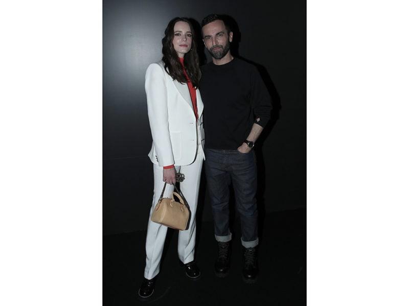 Stacy-Martin-and-Designer-Nicolas-Ghesquièr