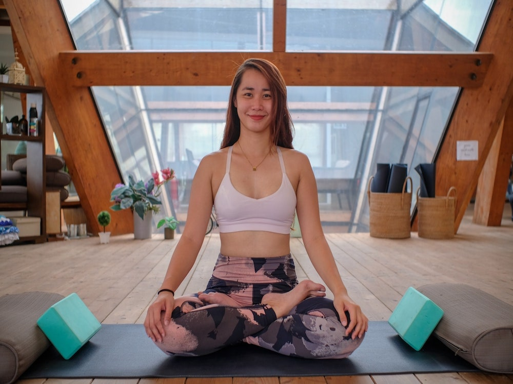 fitness ragazza yoga