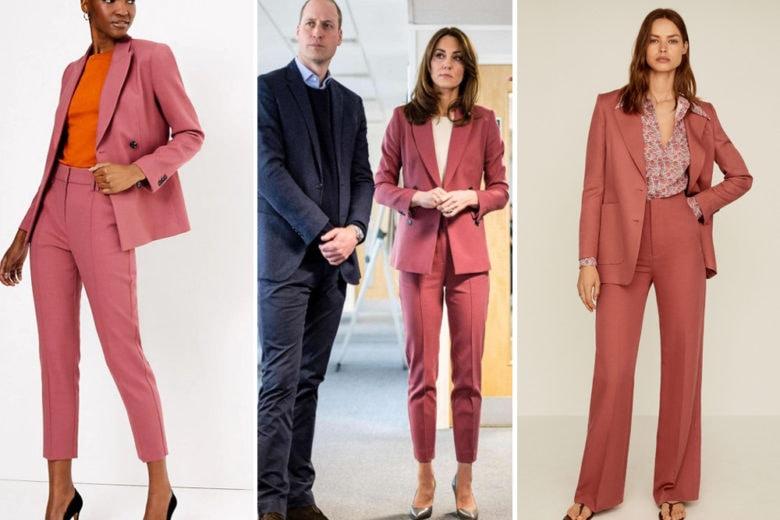 Il tailleur rosa antico di Kate Middleton fa subito Primavera