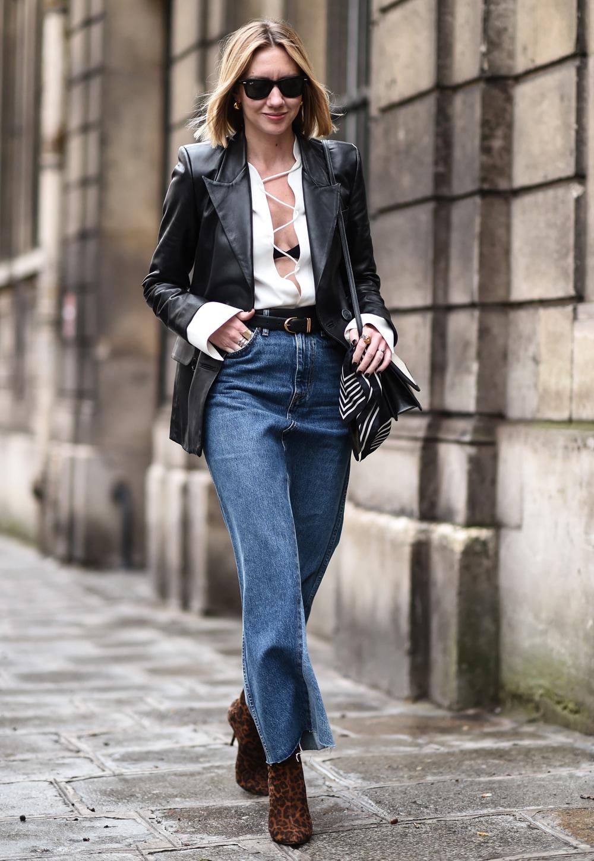 lisa aiken jeans e blazer pelle
