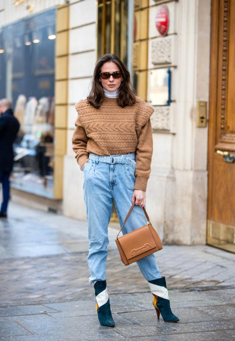 panta stivali jeans momfit