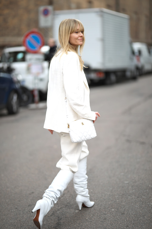 panta stivali total white jeanette