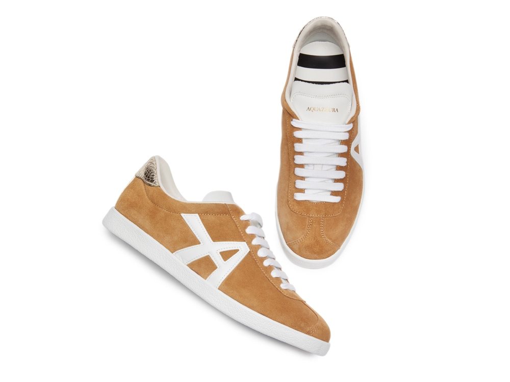 Aquazzura-The-a-sneaker-Hazelnutwhitesilver-Suede-leather-THAFLASK-CCK-HWS-Front