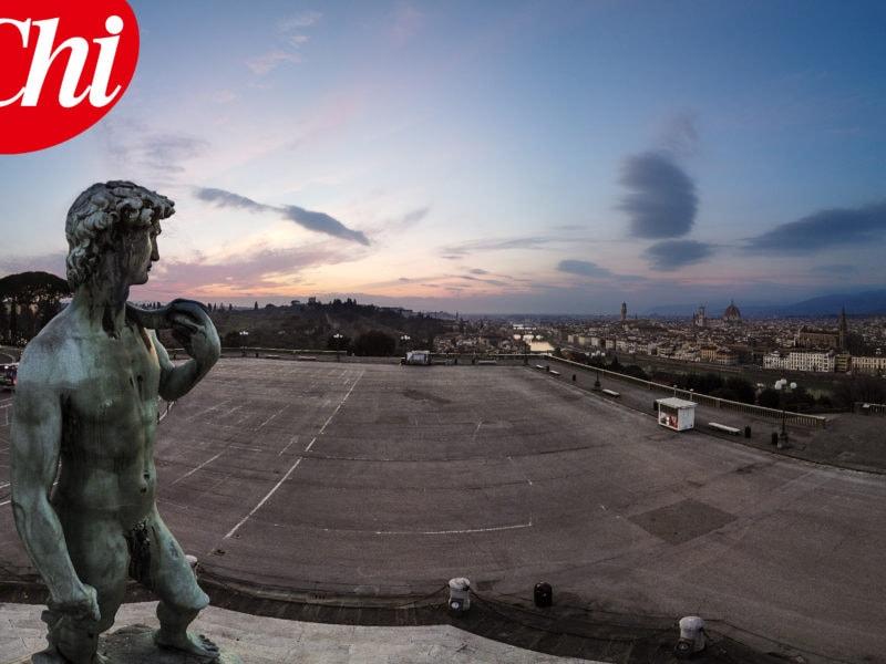 Firenze, cosa pensano le statue della città svuotata da COVID-1