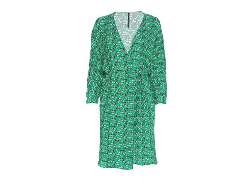 manila-grace-mini-abito-stampato-color-verde