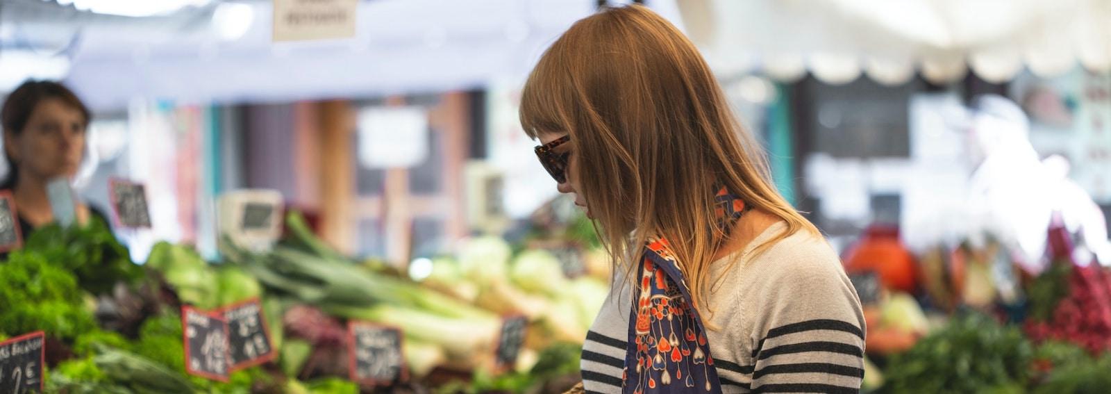 mercato spesa verdura