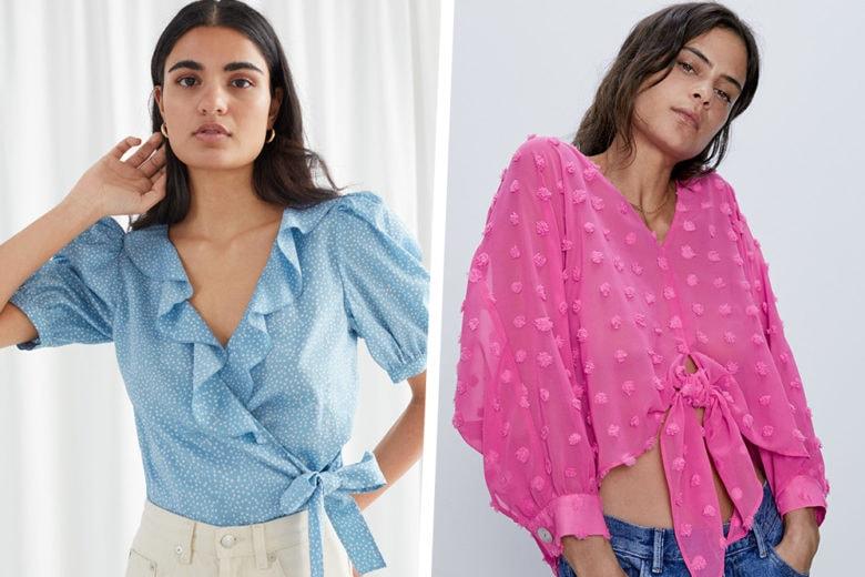 """Camicie con il nodo: i modelli must per un'estate """"very fresh"""""""