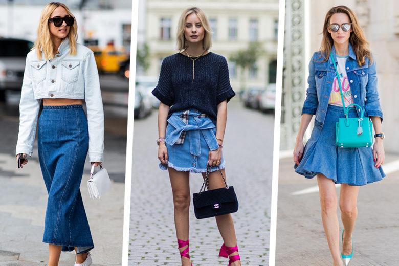 Come indossare la gonna di jeans: provate con questi 5 outfit davvero cool
