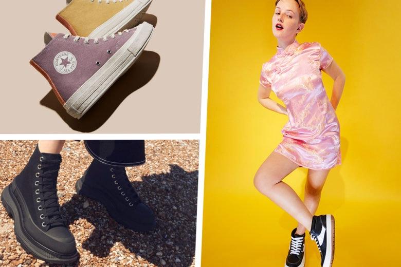 Sneakers e scarponcini anni 90: forme chunky e grunge si rinnovano per la nuova stagione