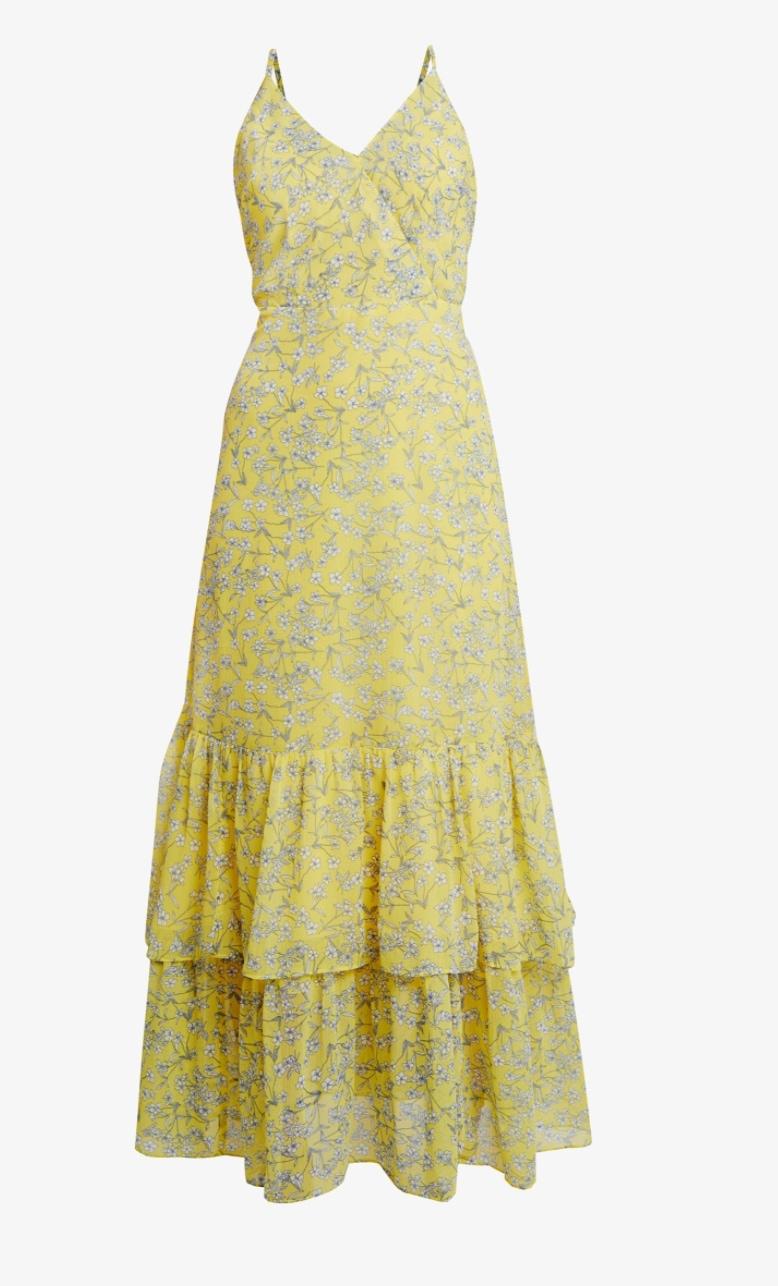 abito lungo giallo BANANA REPUBLIC