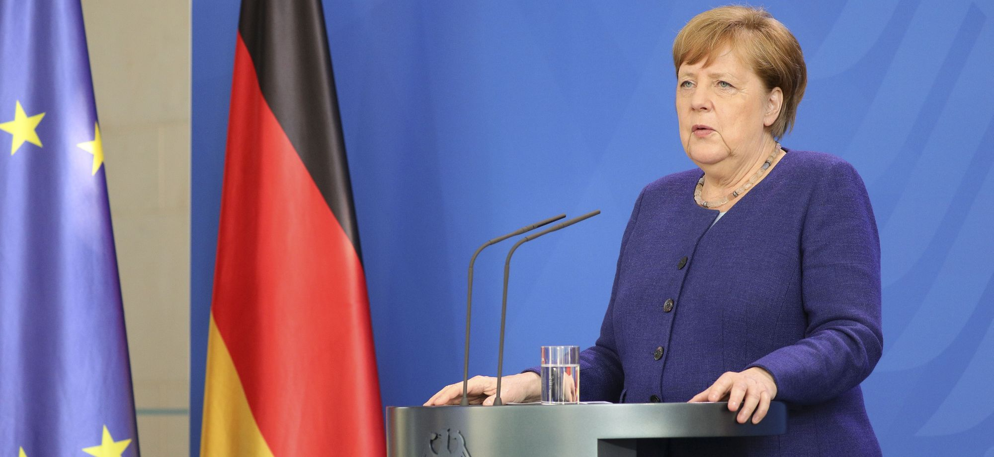 Merkel Speaks To Media Following Videoconference With Financial Institutions