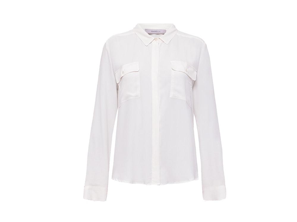 camicia-bianca-con-tasche-in-crêpe-de-Chine-misto-seta-marella