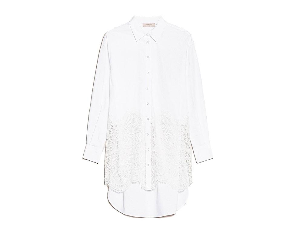 camicia-bianca-over-con-inserto-in-pizzo-twinset-milano
