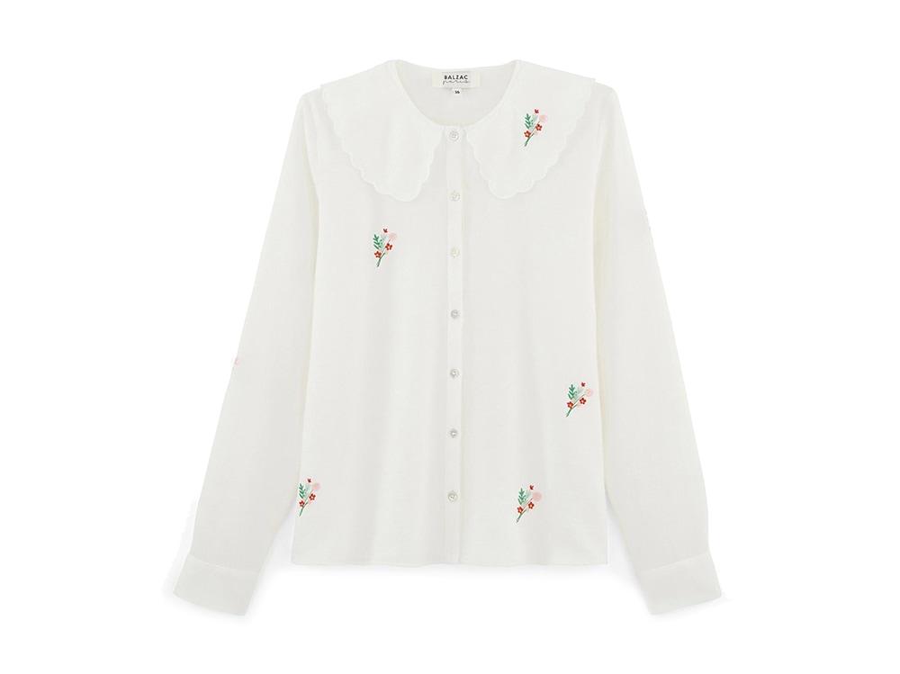 camicia-bianca-ricami-floreali-balzac-paris