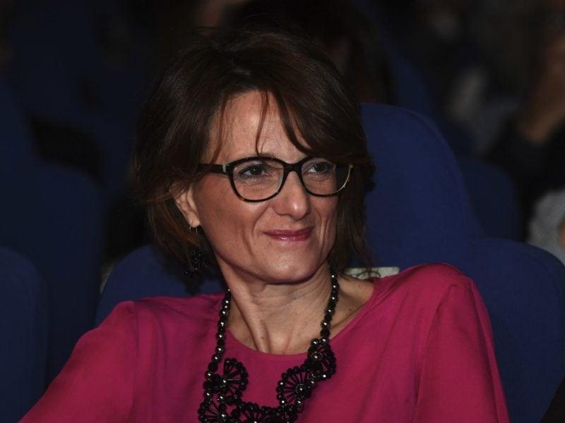The Italian minister for the family Elena Bonetti, during