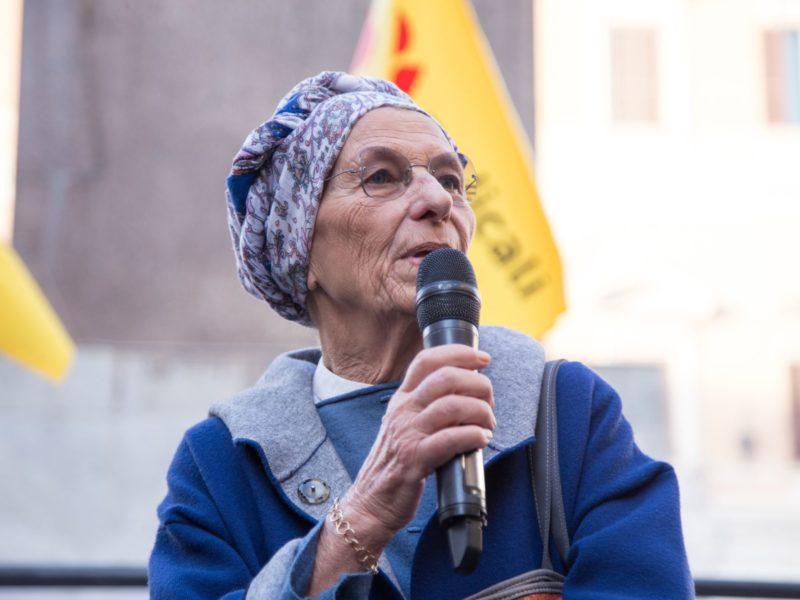 Emma Bonino during the