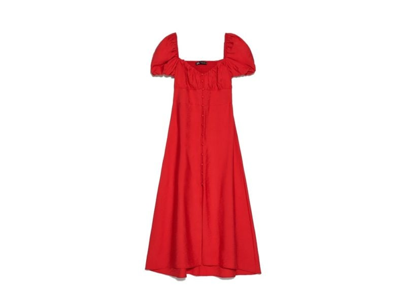 zara red dress (1)