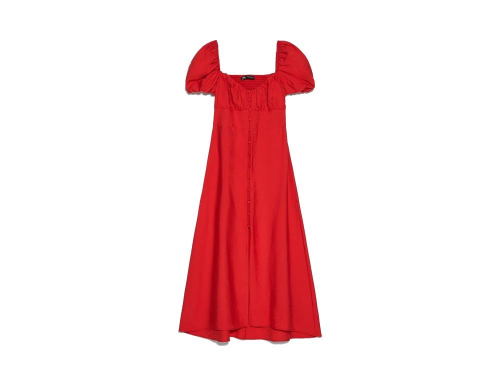 zara red dress (1)