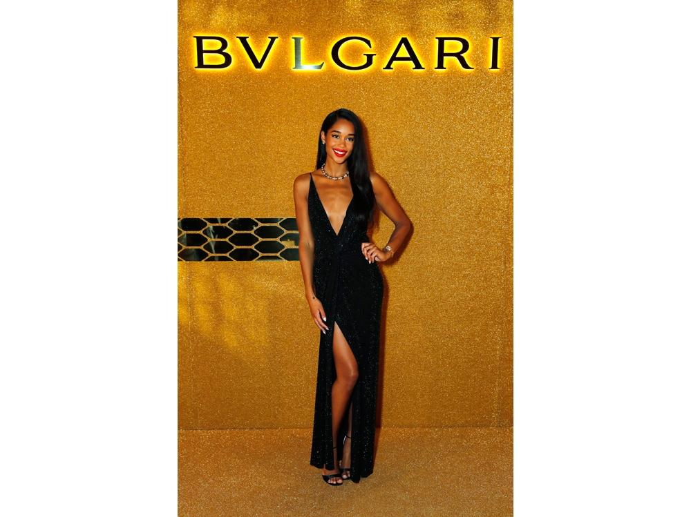 Alexandre Vauthier dress – ROger Vivier sandals -Bulgari jewels
