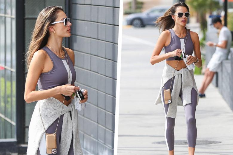 """Pronte per il """"back to gym""""? Ispiratevi al look di Alessandra Ambrosio"""