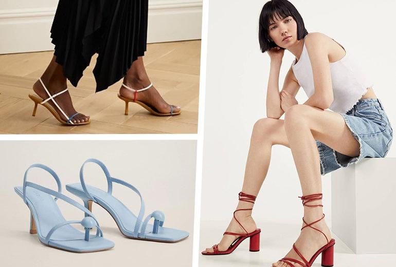I sandali con listini: il modello must dell'estate 2020 è un'ode al minimalismo