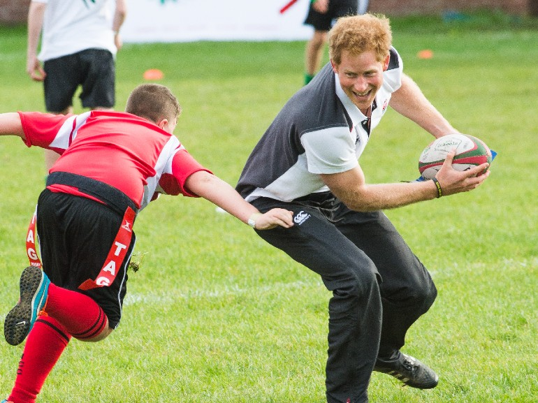 principe harry rugby