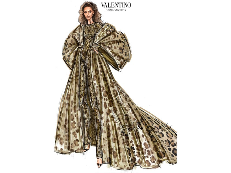 Beyoncé-sketch—Valentino-Haute-Couture-look