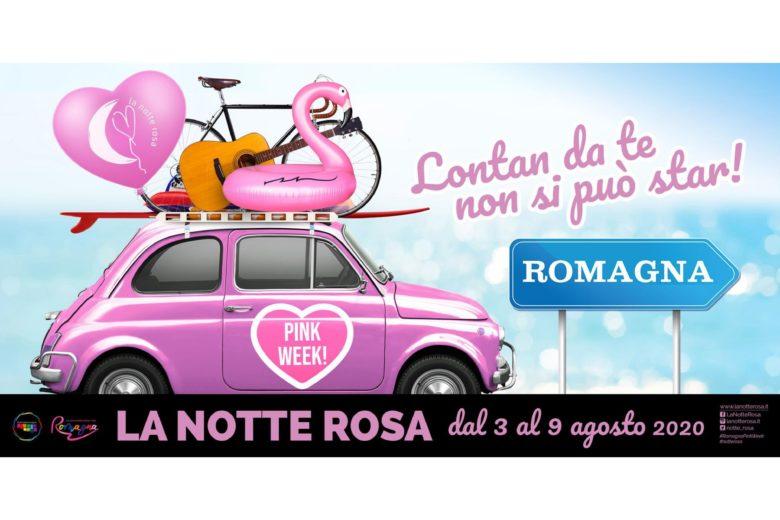 """Pink Week 2020: al via in Romagna una settimana di eventi """"diffusi"""" per divertirsi in sicurezza"""