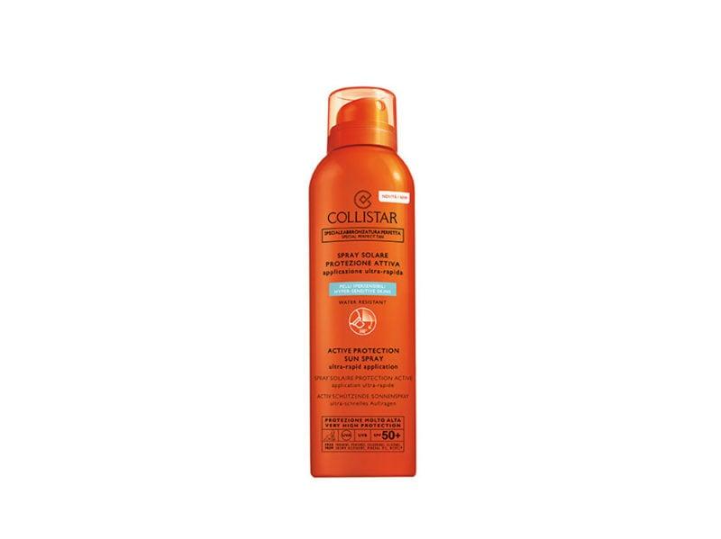 beauty-case-al-mare-prodotti-consigli-vacanze-make-up-solari-capelli-corpo-COLLISTAR-SPRAY-SOLARE-PROTEZIONE-ATTIVA-SPF-50-+