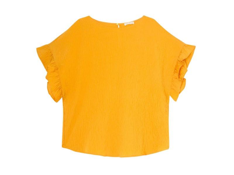 maglia-arancio-con-volant-oysho