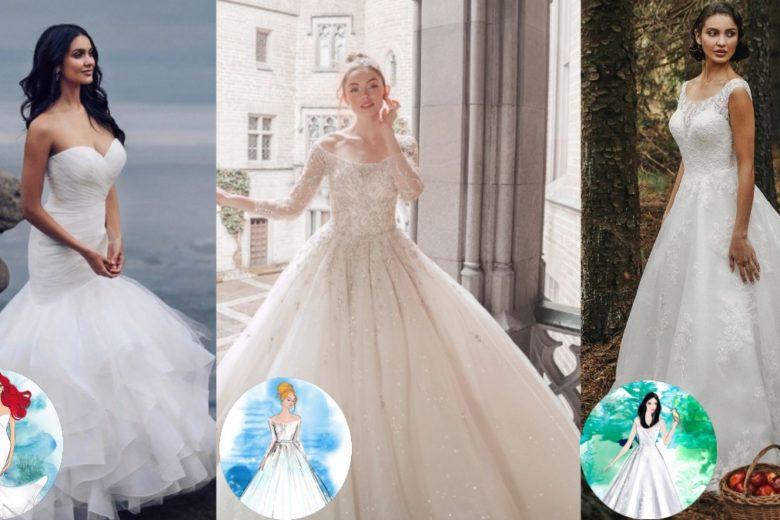 """Abiti da sposa: la collezione ispirata alle principesse Disney è semplicemente una """"favola""""!"""