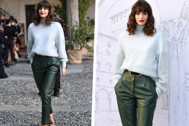 Come abbinare i pantaloni di pelle? Il look di Greta Ferro è l'esempio giusto (da copiare al volo!)