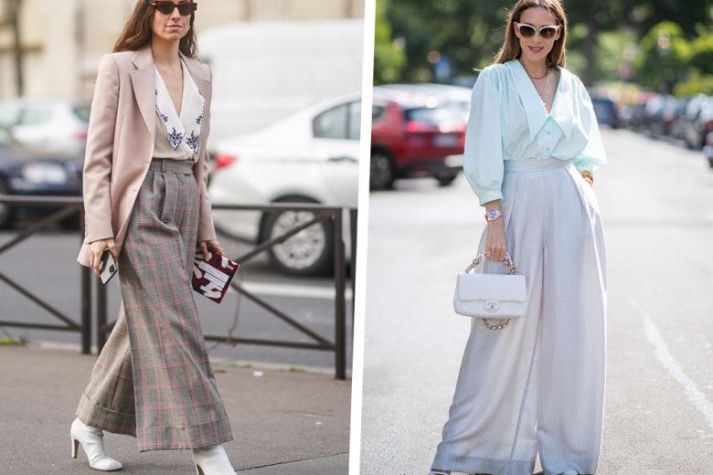 I pantaloni a palazzo sono il modello must per slanciare la figura (e ottenere look super chic!)