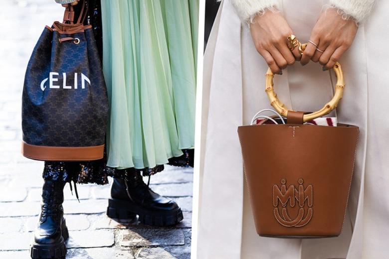Bucket bags: le borse a secchiello continuano a farci battere il cuore (sì, anche in autunno)