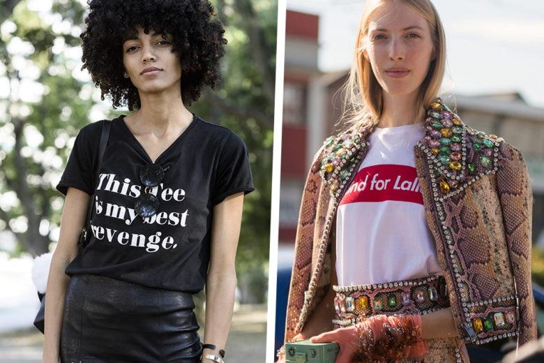 Ditelo con una t-shirt: le magliette con scritte e disegni da esibire questo autunno inverno!