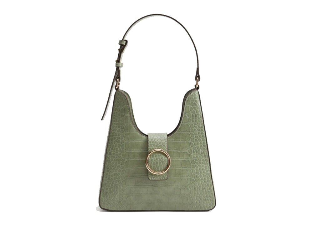 mango-borsa-a-mano-verde-salvia-effetto-coccodrillo