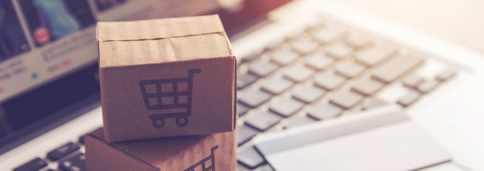 shopping online. hero