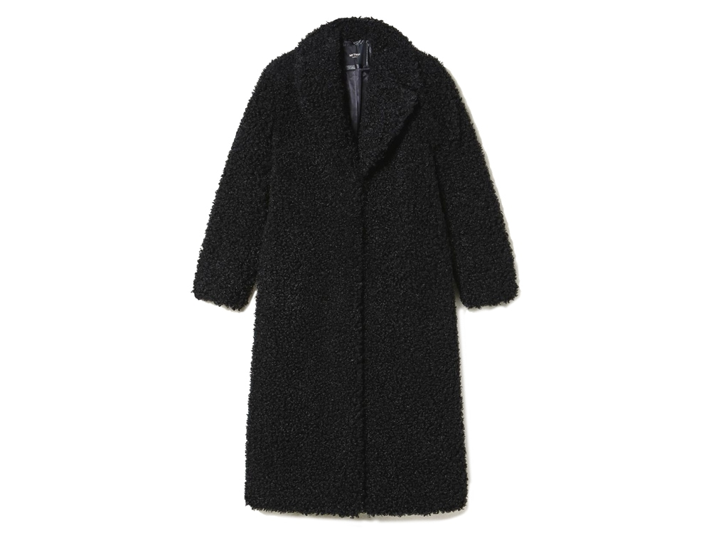 Cappotto-lungo-in-similpelliccia-effetto-curly-sheep-con-revers-TWINSET-MILANO