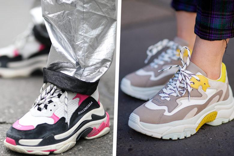 Chunky sneakers: le amiamo ancora? Certo, anzi di più!