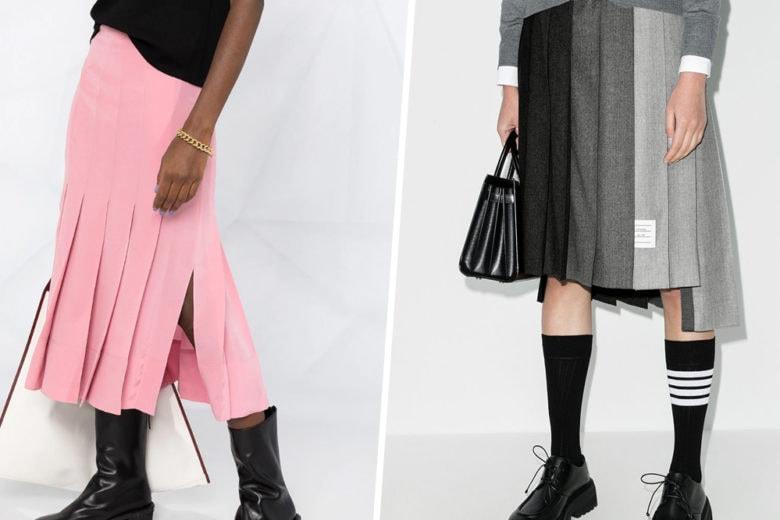 """La gonna a pannelli è il """"feticcio fashion"""" che non può mancare nel guardaroba autunnale"""