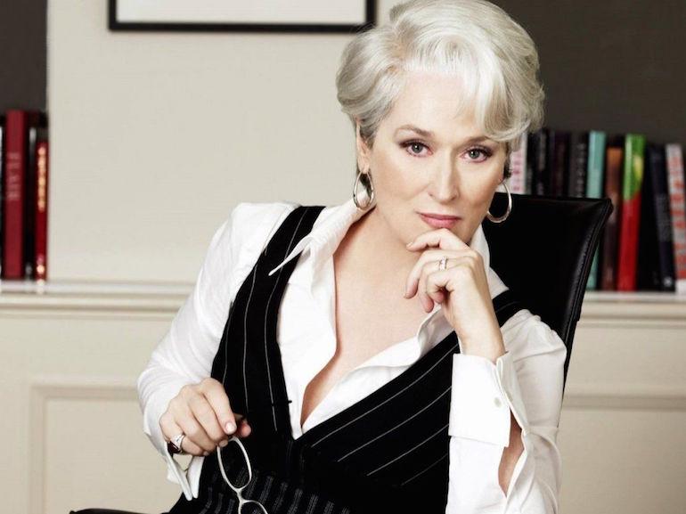 Maryil Streep scrivania