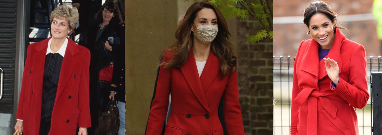 royal trend cappotto rosso
