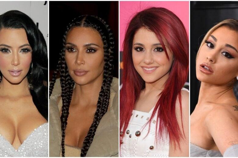Star prima e dopo: come sono cambiate negli anni Kim, Kylie, Ariana & Co