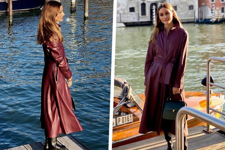 Il look burgundy di Olivia Palermo è sofisticato come piace a noi!
