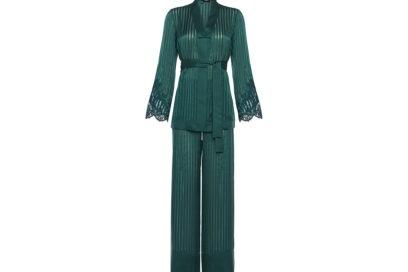 La-Perla-'FALL-IN-LOVE'-Pyjamas-in-green-silk-with-Leavers-lace