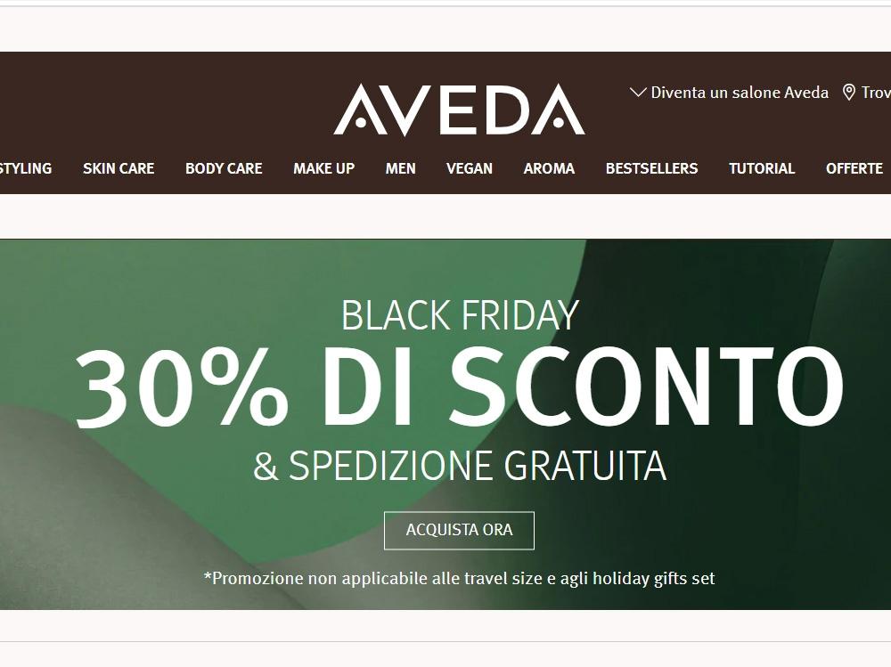 black-friday-2020-beauty-le-migliori-offerte-aveda