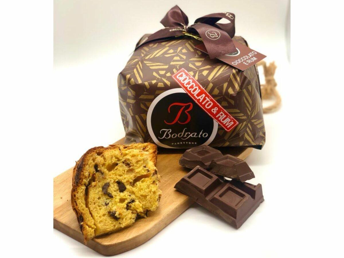 panettoni artigianali delivery consegna domicilio Cioccolato e Rum Bodrato