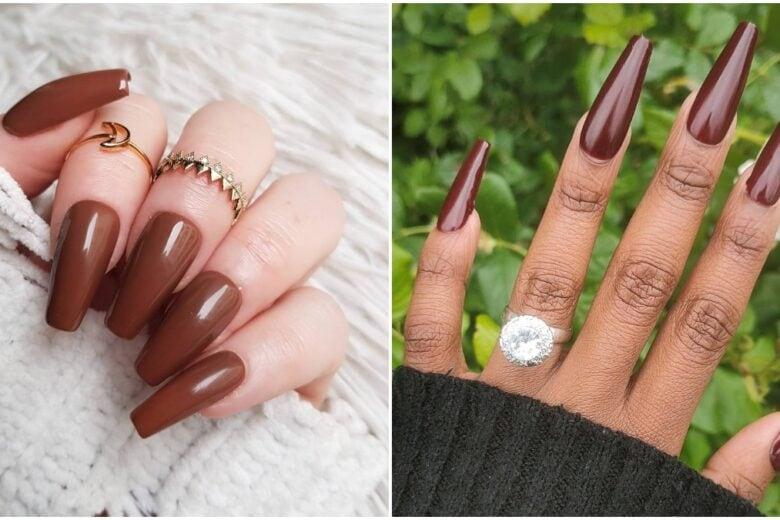 Le unghie marrone cioccolato sono le preferite delle star: eccome come portarle
