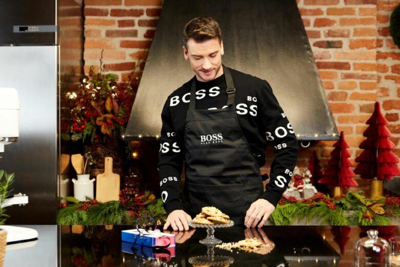 A stelle e cuori, così è il Natale di Hugo Boss e del pastry chef Damiano Carraro